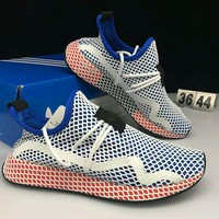 Adidas DEERUPT RUNNER new fashion men network shoe White blue