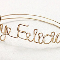 Custom Wire Bye Felicia Bracelet (MADE TO ORDER) Silver Bracelet, Gold Bracelet, Copper Bracelet, Basic, Goodbye, Girl Please, Girl Bye