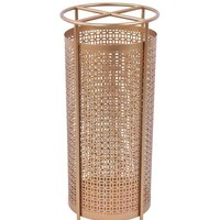 Openwork Exquisite Metal Umbrella Stand, Gold