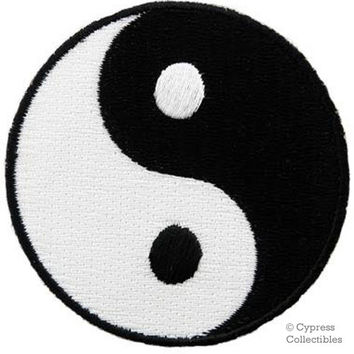 YIN YANG PATCH iron-on embroidered emblem Martial Arts Karate Tai Chi applique ying