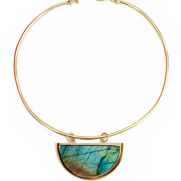 Elizabeth Stone | Moon Gazer Gold Collar