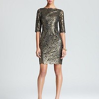 Shoshanna Lace Dress - Metallic Minka | Bloomingdale's