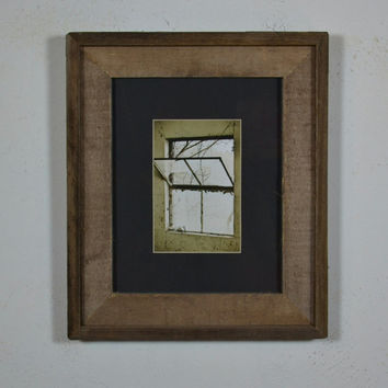 Framed fine art photo window into the world
