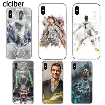 Cristiano Ronaldo CR7 Football Soccer Star Phone Case for iphone 8 7 6 6S PLUS X 5 5S SE