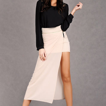 EMAMODA MAXI SKIRT - CREAM 5116-1