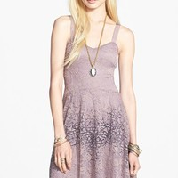 Women's Free People Flocked Lace Fit & Flare Dress,