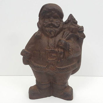 Cast Iron Santa Clause Door Stop