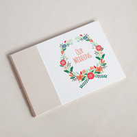 Wedding Guest Book, Floral Wreath