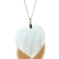 Sea Shell Necklace, Leaf Necklace, Necklace With Big Pendant