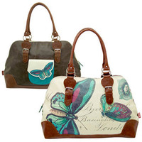 Disaster Designs : Vintage Butterfly Overnight Bag at Campus Gifts