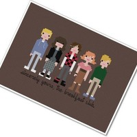 The Breakfast Club - Cross-stitch PATTERN PDF