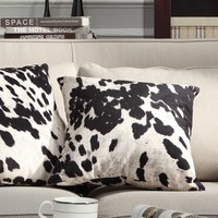 Black and White Faux Cow Hide Print Decorative Pillows (Set of 2) by iNSPIRE Q Bold   Overstock.com Shopping - The Best Deals on Throw Pillows