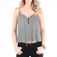 Between the Lines Lace Up Tank