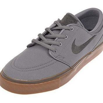 Nike Stefan Janoski CNVS (GS) Youth Suede Skateboard Shoes Cool Grey/Anthracite Black