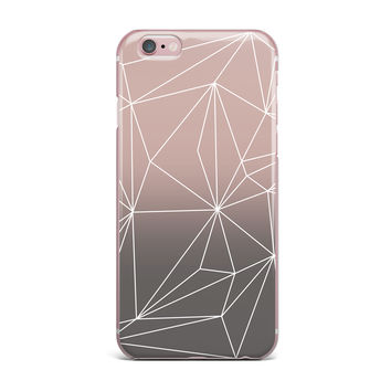 "Mareike Boehmer ""Simplicity 2X"" Brown Geometric iPhone Case"