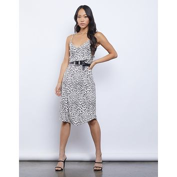Nine Lives Leopard Midi Dress