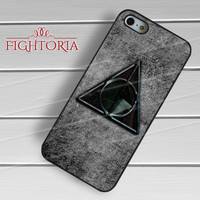 Deathly Hallows Harry Potter Symbol - zzZzz for  iPhone 4/4S/5/5S/5C/6/6+s,Samsung S3/S4/S5/S6 Regular/S6 Edge,Samsung Note 3/4