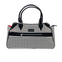 Black & White Houndstooth Deadly Deville Purse