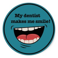 Teal Big Smile Dentist Sticker