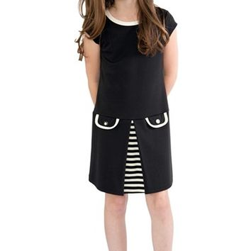 Girl's BLUSH by Us Angels Drop Waist Shift Dress,