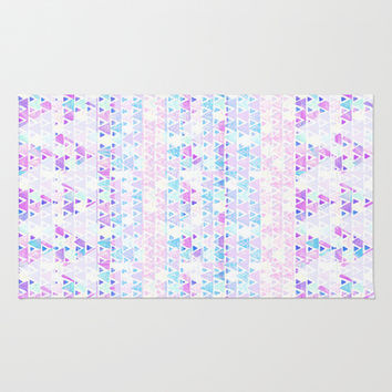Triangles and triangles Area & Throw Rug by haleyivers