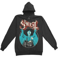 Ghost B.C. Men's  Opus Eponymous Zippered Hooded Sweatshirt Black