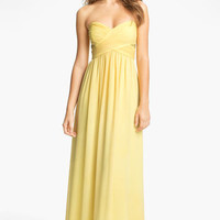 Max & Cleo Strapless Chiffon Gown | Nordstrom