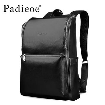 Designer Cow Leather Women Backpack Genuine Leather Laptop Bag for Travel Fashion Men Daypack High Quality Shoulder Bags