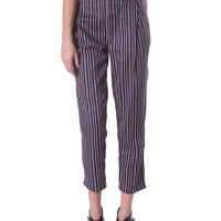Let Them Line Up Trousers - Navy Stripe
