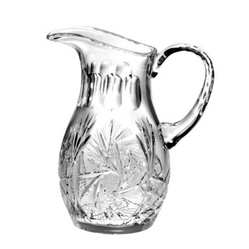 Majestic Gifts PW-162 Hand Cut Crystal 48 oz. Pitcher