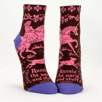 Runnin' The World And Stuff Women's Socks