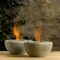 River Rock Fire Bowl Tabletop