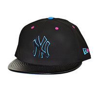 New Era New York Yankees Team 9Fifty Snapback Athletic Hat Black/Blue/Pink 70313688 (Size os)