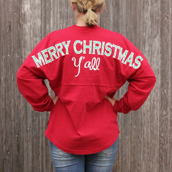Merry Christmas Y'all Spirit Jersey