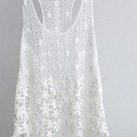 Lace Tank Top In White from Bblythe