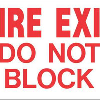 Fire Exit Do Not Block Heavy-Duty Reflective Sign, 10 In. X 14 In.
