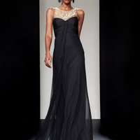 Theia 880481 Black Evening Gown
