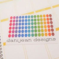 Colorful Dot Stickers, planner stickers, multi-colored dots, circle stickers