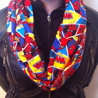 The Amazing Spiderman Flannel Infinity Scarf, Marvel, Superhero, Comics, Comic Book
