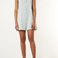 MOTO Spot Denim Shirt Dress - Dresses - Clothing - Topshop