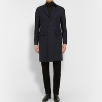 Burberry London - Slim-Fit Houndstooth Wool and Cashmere-Blend Felt Coat | MR PORTER