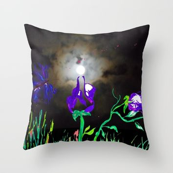 Majestic Bloom Throw Pillow by ES Creative Designs