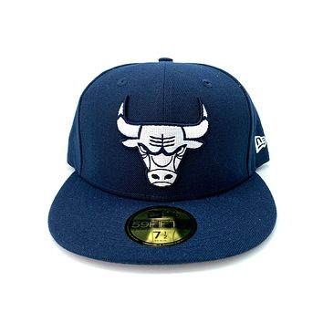 New Era 9FIFTY Chicago Bulls Fresh Hook Navy Blue Fitted Hat
