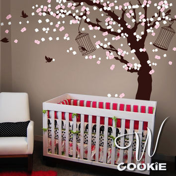 Cherry Blossom Tree   Nursery Wall Decal by wcookie on Etsy