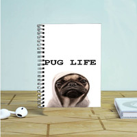 Funny Pug Life Photo Notebook Auroid