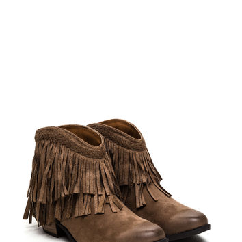 Queen Of Boho Faux Suede Booties GoJane.com