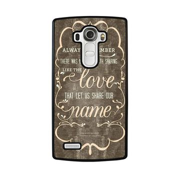 the avett brothers quotes lg g4 case cover  number 1