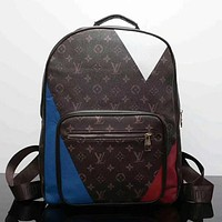 LV Women Casual School Bag Cowhide Leather Backpack I-LLBPFSH