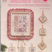Bride's Quilt or Christmas Quilt Squares counted cross stitch pattern leaflet 12 traditional quilt blocks sampler or Christmas ornaments