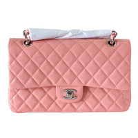 CHANEL bag Medium flap Pink patent leather Cruise 2013 NEW/box